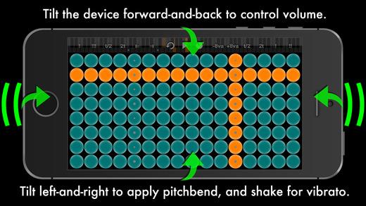 Arpeggionome for iPhone   matrix arpeggiator