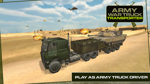 Army War Truck Transporter