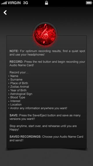 Audio Name Card
