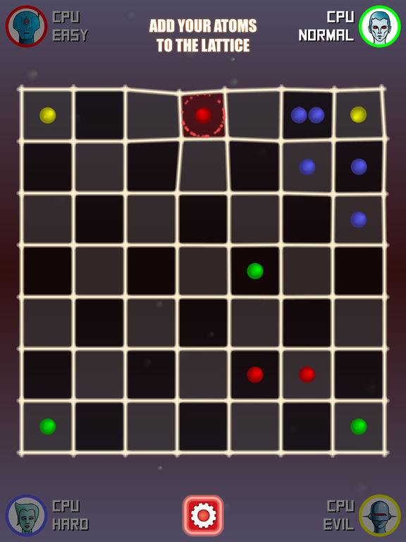 Atoms: Classic Turn-Based Game of Chain Reactions
