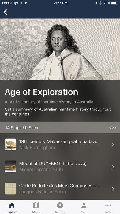 Australian National Maritime Museum Visitor App