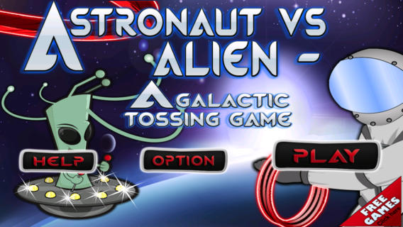 Astronaut vs Alien - A Galactic Tossing Game