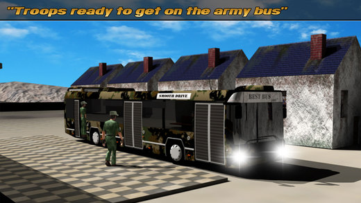 Army Bus: Extreme Driving