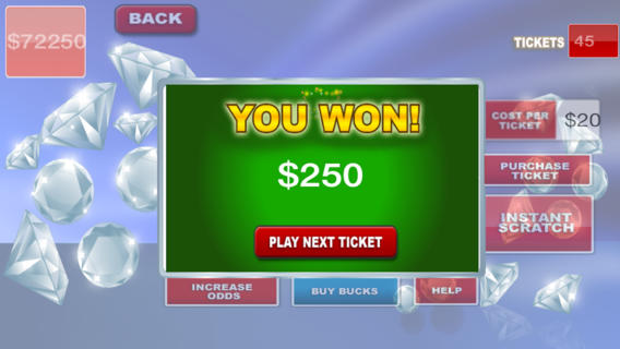 Awesome Lottery Scratcher with Slot Machine Bonus