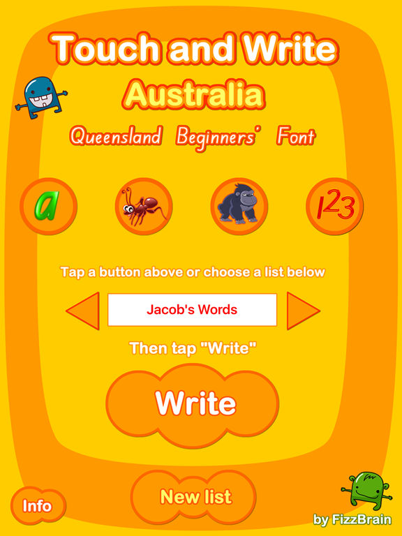 Australian Touch and Write: Queensland Beginners