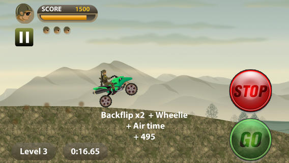 Army Rider Stunt Bike