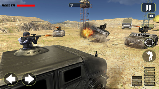 Army Off-Road Truck Driving: Gun Shooting