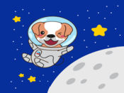 Astronaut Dog Stickers for iMessage 1
