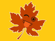 Autumnoji - Autumn Leaf Emoji & Pumpkin Sticker.s 1