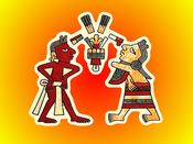 Aztecs Painting Stickers