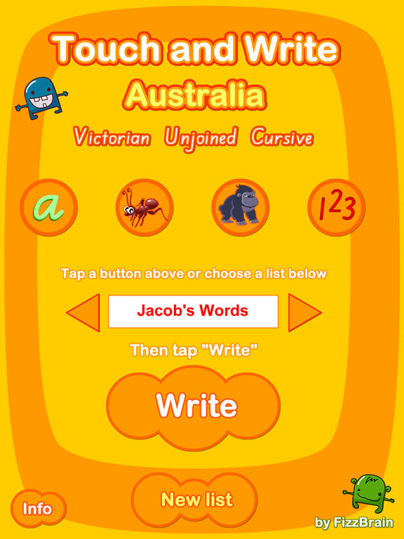 Australian Touch and Write: Victorian Cursive