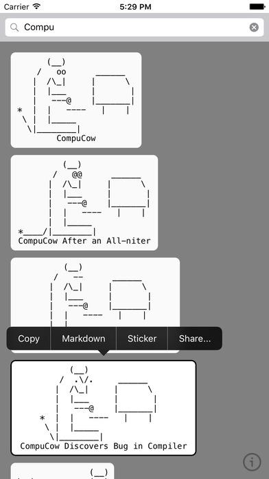 ASCII Cows