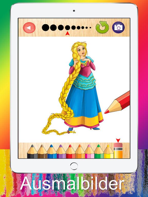Ausmalbilder für Kinder Kleine Prinzessin