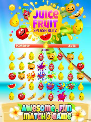 Alluring Juicy Fruity Splash Blitz Game  PRO