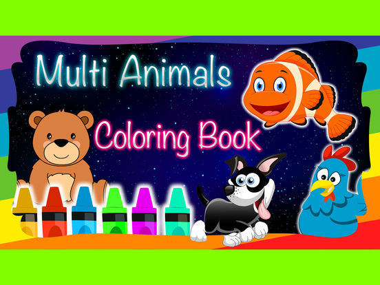 Animals Coloring Multi Book