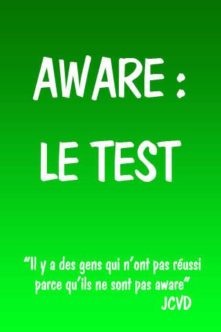 Aware : le test