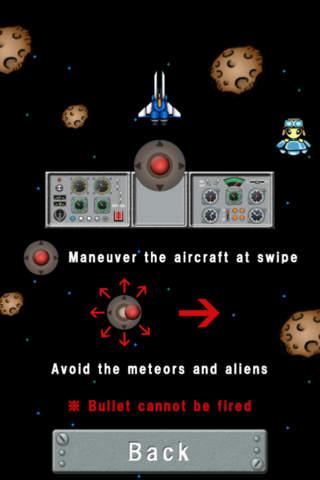 Avoid a meteorite.
