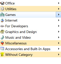 Handy Start Menu(开始菜单程序列表自动分类) v1.94