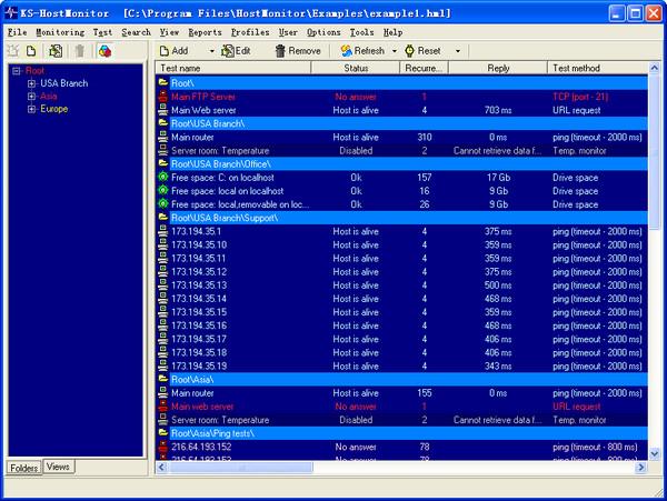 服务器监控软件(HostMonitor)