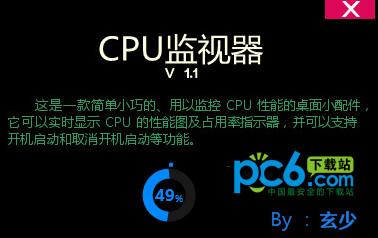 玄少CPU监视器 v1.1绿色版