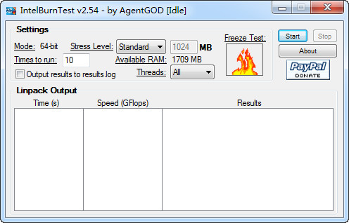 intelburntest(拷机软件) V2.54绿色版