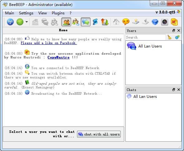 BeeBEEP(局域网聊天共享工具) v3.0.8绿色版
