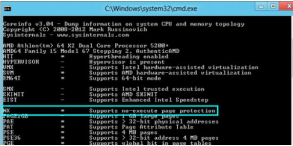 CPU信息查看工具(Coreinfo)
