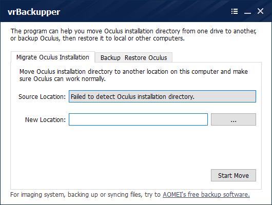 VrBackupper(Oculus Rift备份工具) v1.0官方版