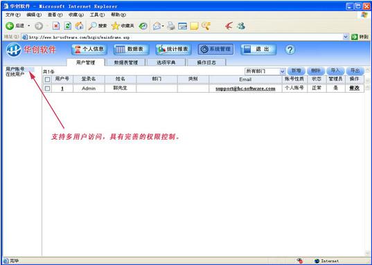 华创网表(Excel数据上网共享工具)