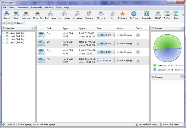 硬盘空间分析(DiskBoss)