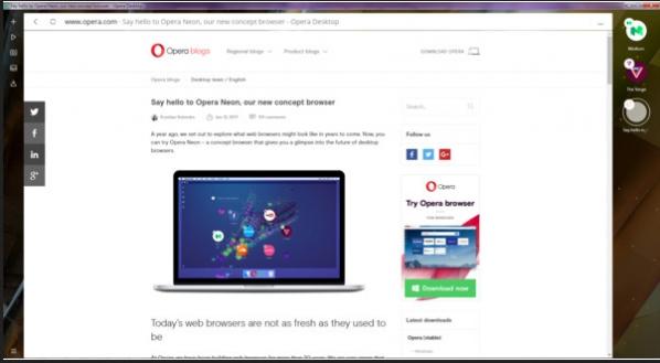 Opera Neon浏览器