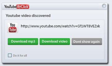YouTube视频下载软件(YoutubeByClick)