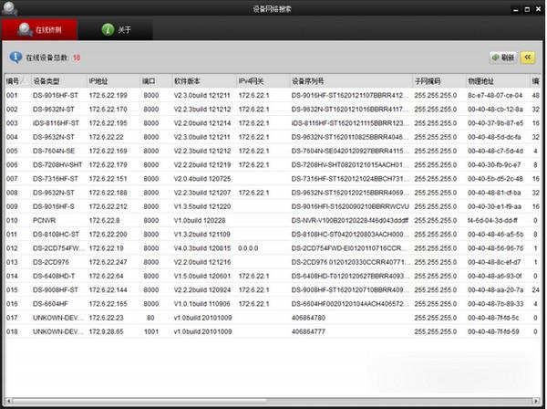设备网络搜索软件SADP