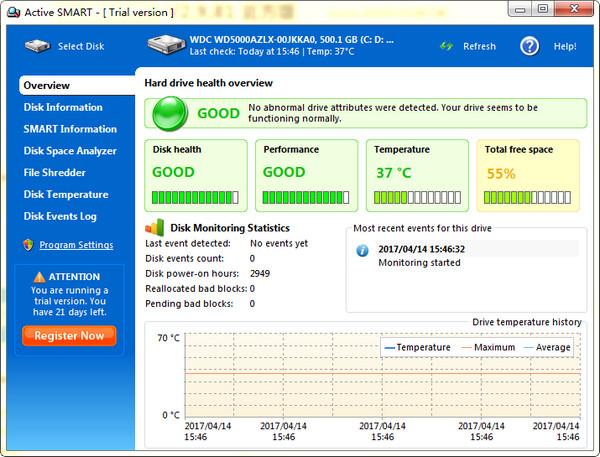 Active SMART(硬盘监视工具) v2.9.81.161官方版