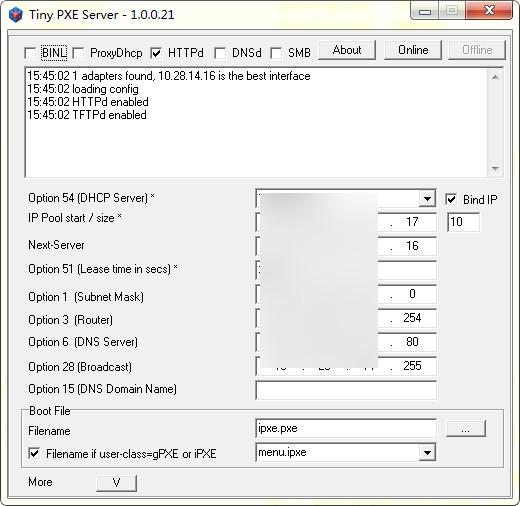 Tiny PXE Server(pxe服务器软件)