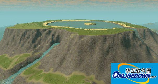 城市:天际线 火山...