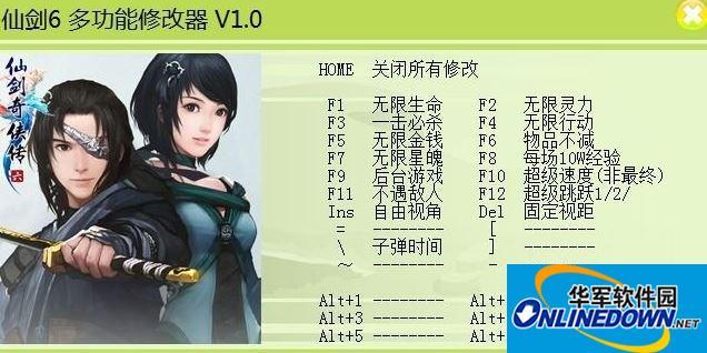 仙剑奇侠传6 十五项修改器V1.0.0
