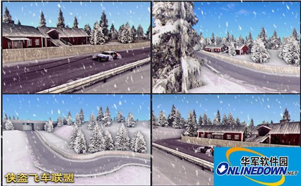 雪地赛车跑道地图超酷跑道