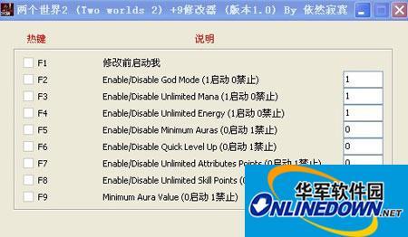《两个世界2》+9修改器+9修改器 1