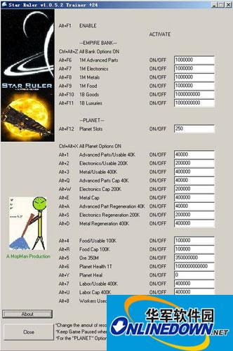 《星际统治者》V1.0.3 二十四项修改器V1.0.3 二十四项修改器