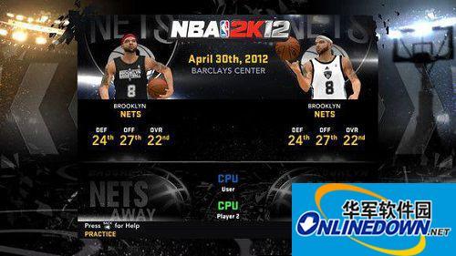《NBA 2K12》布鲁克林篮网队新Logo补丁