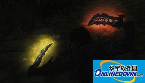 《上古卷轴5:天际》混沌之刃+战神之刃 两把带眩光的匕首MOD