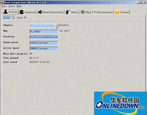 《死亡岛:激流》存档编辑器 Dise V0.1.4