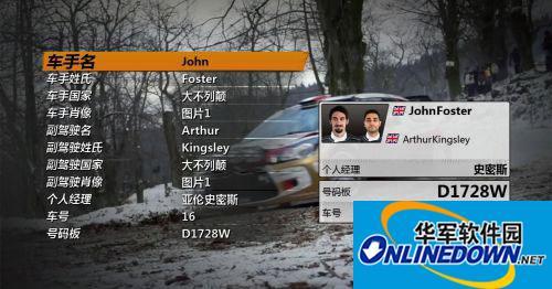 《世界汽车拉力锦标赛4》3DM轩辕汉化组汉化补丁v1.0