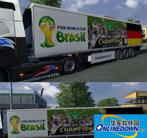 《欧洲卡车模拟2》德国世界杯冠军皮肤MOD 1
