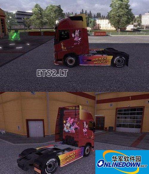 《欧洲卡车模拟2》米老鼠皮肤MOD 1