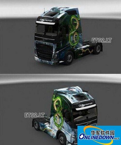 《欧洲卡车模拟2》中国龙皮肤MOD