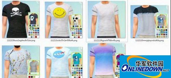 《模拟人生4:创造市民》七款男T恤MOD[替换版] 1