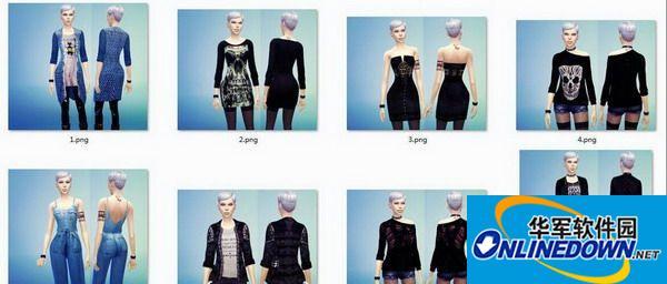 《模拟人生4:创造市民》八款女性外套 [替换版]
