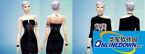 《模拟人生4》朋克风女式服装合集 1